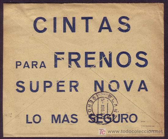 ESPAÑA. (CAT. 317A). 1927. SOBRE DE PUBLICIDAD AUTOMÓVIL DE BARCELONA. MAGNÍFICO Y RARO. (Sellos - España - Alfonso XIII de 1.886 a 1.931 - Cartas)