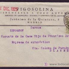 Sellos: ESPAÑA. (CAT. 310A). 1925. SOBRE PUBLICIDAD AUTOMÓVILES DE MADRID. FRANQUEO IMPRESOS. RARO.. Lote 25063409