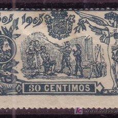 Sellos: ESPAÑA EDIFIL 261* - AÑO 1905 - 3º CENTENARIO DE LA PUBLICACION DEL QUIJOTE. Lote 27525109