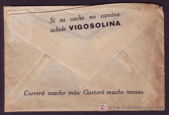 ESPAÑA. (CAT. 310A). 1926. SOBRE PUBLICIDAD AUTOMÓVILES DE MADRID. 2 CTS. IMPRESOS. RARO. (Sellos - España - Alfonso XIII de 1.886 a 1.931 - Cartas)