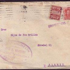 Sellos: ESPAÑA.1930.SOBRE. MARCA PUBLICIDAD AUTOMÓVILES *NEUMÁTICOS MICHELIN* DE BARCELONA. MUY RARA.. Lote 24517434