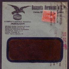 Sellos: ESPAÑA.(CAT.317A).1927.SOBRE VENTANA PUBLICIDAD AUTOMÓVILES DE BARCELONA.25 CTS.MAGNÍFICO Y RARO.. Lote 24972849