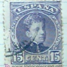 Sellos: ALFONSO XIII - CADETE 15C. AZUL CRIS. Lote 23561002