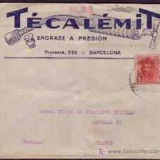 Sellos: ESPAÑA. (CAT. 317).1925. SOBRE PUBLICIDAD AUTOMÓVILES DE BARCELONA. 25 CTS. DORSO LLEGADA. MUY RARA.. Lote 23620789