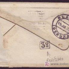 Sellos: ESPAÑA.(CAT.317A).1927.SOBRE DE BARCELONA A BLANES. 25 CTS. DORSO * 3º * REPARTO. LLEGADA. MUY RARA.. Lote 24631012