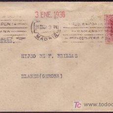 Sellos: ESPAÑA.(CAT. 312).1930.SOBRE DE MADRID A BLANES.5 CTS. VAQUER.MUY RARO FRANQUEO DE IMPRESOS.BONITA.. Lote 24540528
