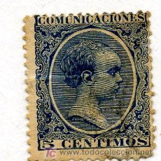 Sellos: ALFONSO XIII - 5 CENTIMOS - 1889. Lote 27279561
