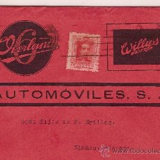 Sellos: HISTORIA POSTAL WILLYS - OVERLAND AUTOMOVILES S.A. CIRCULADA EN 1925. Lote 24060555