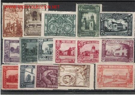 OPORTUNIDAD BONITA SERIE DE PRO UNION IBEROAMERICANA LA DE LA FOTO (Sellos - España - Alfonso XIII de 1.886 a 1.931 - Usados)