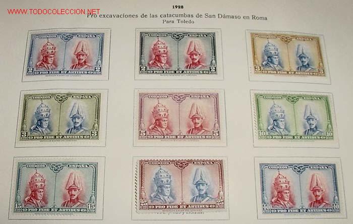 Sellos: 1928 - PRO EXCAVACIONES DE LAS CATACUMBAS DE SAN DAMASO EN ROMA - COMPLETA - SELLOS NUEVOS CON CHARN - Foto 2 - 26329221