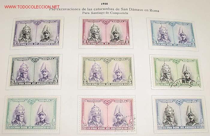 Sellos: 1928 - PRO EXCAVACIONES DE LAS CATACUMBAS DE SAN DAMASO EN ROMA - COMPLETA - SELLOS NUEVOS CON CHARN - Foto 5 - 26329221