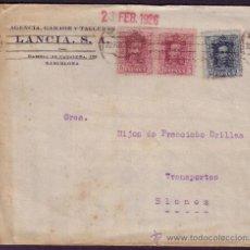 Sellos: ESPAÑA.(CAT.311,315).1926.SOBRE PUBLICIDAD AUTOMÓVILES DE BARCELONA. 5 Y 15 CTS. MUY BONITO FRANQUEO. Lote 24866511