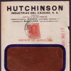 Sellos: ESPAÑA. (CAT. 317). 1926. SOBRE PUBLICIDAD CON VENTANA DE BARCELONA. 25 CTS. LLEGADA. RARO.. Lote 24246064