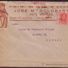 Sellos: ESPAÑA. (CAT. 317). 1926. SOBRE PUBLICIDAD AUTOMÓVILES DE BARCELONA. 25 CTS. LLEGADA. RARO.. Lote 23697928