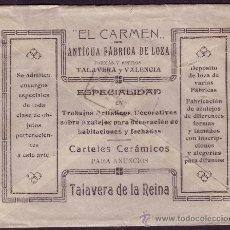 Sellos: ESPAÑA. SOBRE DE PUBLICIDAD DE TALAVERA DE LA REINA (TOLEDO). 15 CTS. MEDALLÓN. MUY RARO.. Lote 23998246