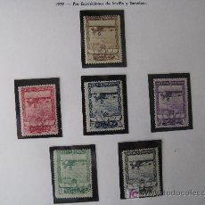 Sellos: 1929 PRO EXPOSICIONES DE SEVILLA Y BARCELONA. EDIFIL 448/53. Lote 26631554