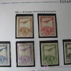 Sellos: 1930 XI CONGRESO INTERNACIONAL DE FERROCARRILES. EDIFIL 483/88. Lote 26927034