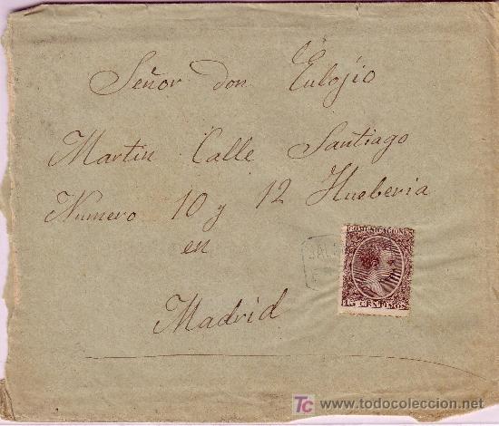 CARTA DE ESPEJA ( SALAMANCA) A MADRID, FRANQUEADA CON EL SELLO 219. (Sellos - España - Alfonso XIII de 1.886 a 1.931 - Cartas)