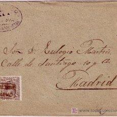 Sellos: CARTA DE CELANOVA ( ORENSE ) A MADRID, FRANQUEADA CON EL SELLO 219, MATASELLO CARTERIA TIPO II.. Lote 14811006