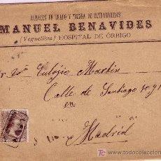 Sellos: CARTA DE H. DE ORBIGO A MADRID, FRANQUEADA CON EL SELLO 219, MATASELLADO CON CARTERIA.. Lote 12943199
