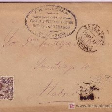 Sellos: CARTA DE NEDA ( CORUÑA ), FRANQUEADA CON EL SELLO 219, MATASELLADO CON CARTERIA.. Lote 22195973