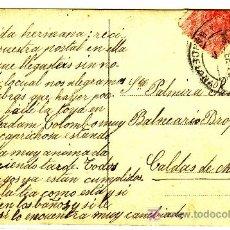 Sellos: TARJETA POSTAL ILUSTRADA DE BARCELONA A CALDAS DE MONTBUY, FRANQUEADA CON SELLO 269,. Lote 12946562