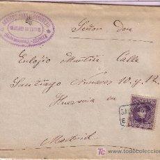 Sellos: CARTA DE ESPEJA ( SALAMANCA ) A MADRID, FRANQUEADA CON EL SELLO 245 MATASELLADO CON CARTERIA.. Lote 12946866