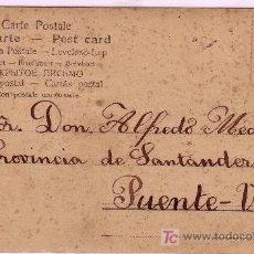 Sellos: TARJETA POSTAL ILUSTRADA DE GUADARRAMA ( MADRID ) A PUENTE VIESGO, FRANQUEADA CON EL SELLO 243.. Lote 14637291