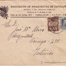 Sellos: CARTA DE BARCELONA INTERIOR, FRANQUEADA CON EL SELLO 315 Y BARCELONA 3.. Lote 22048673