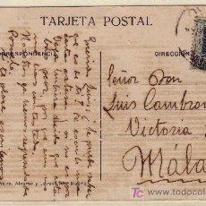 Sellos: TARJETA POSTAL DE LA CIBELES DE MADRID A MALAGA, FRANQUEADA CON EL SELLO 315.. Lote 14637286