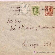 Sellos: CARTA DE BARCELONA CORREO INTERIOR, FRANQUEADA CON LOS SELLOS 291, 319 Y 490.. Lote 22024849