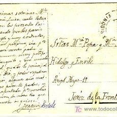 Sellos: TARJETA POSTAL ILUSTRADA AYUNTAMIENTO DE BILBAO, DE MEDINA SIDONIA A JEREZ FRANQUEADA CON 493.. Lote 13886071