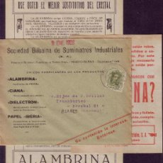 Sellos: ESPAÑA.(CAT.310A).1928. SOBRE PUBLICIDAD (PANFLETO PUBLICITARIO) DE DEUSTO (BILBAO). IMPRESOS. RARO.. Lote 26952570