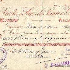 Sellos: ESPAÑA. FISCAL. SANTIAGO (GALICIA). 1901. CHEQUE REINTEGRADO CON SELLO FISCAL. MAGNÍFICO.. Lote 26014861