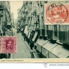 Sellos: TARJETA POSTAL REUS (MONTEROLS) A SUECIA , SELLO EXPOSICIÓN DE INDUSTRIAS DE MADRID EDIFIL SR1 Y 312. Lote 27209077