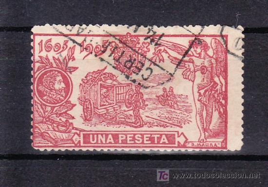 ESPAÑA 264 USADA, MATASELLO CERTIFICADO, (Sellos - España - Alfonso XIII de 1.886 a 1.931 - Usados)