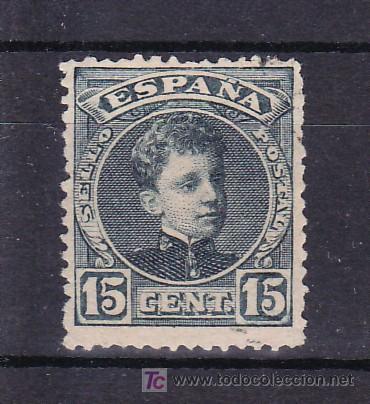 ESPAÑA 244 SIN GOMA, (Sellos - España - Alfonso XIII de 1.886 a 1.931 - Usados)