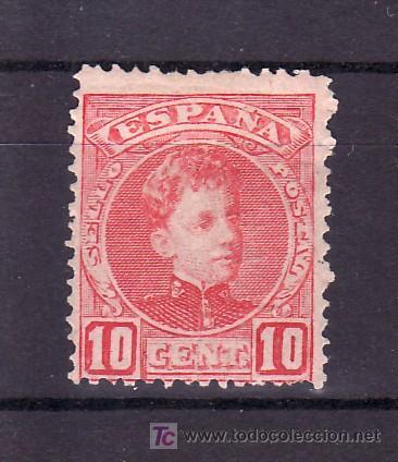ESPAÑA 243 CON CHARNELA, (Sellos - España - Alfonso XIII de 1.886 a 1.931 - Usados)