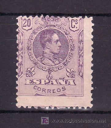 ESPAÑA 273 CON CHARNELA, ALFONSO XIII, TIPO MEDALLON (Sellos - España - Alfonso XIII de 1.886 a 1.931 - Usados)