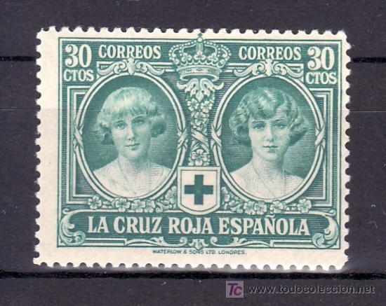 ESPAÑA 332 SIN CHARNELA, PRO CRUZ ROJA ESPAÑOLA (Sellos - España - Alfonso XIII de 1.886 a 1.931 - Usados)