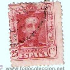 Sellos: ALFONSO XIII 1905 AL 1930 USADO 25C. CARMIN . Lote 22564784