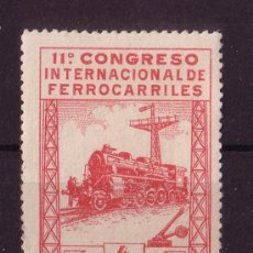 Sellos: ESPAÑA 480*** - AÑO 1930 - CONGRESO INTERNACIONAL DE FERROCARRILES. Lote 18866873