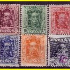 Sellos: 1922 ALFONSO XIII TIPO VAQUER, EDIFIL Nº 310 A 323, SIN 315A *. Lote 20372324