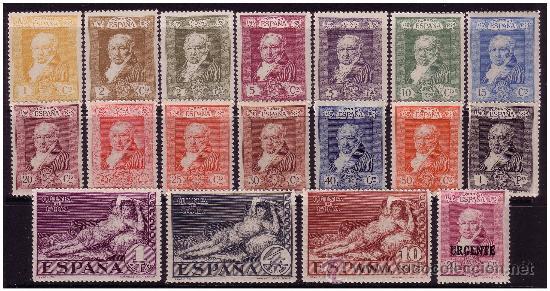 1930 GOYA, TERRESTRES, EDIFIL Nº 499 A 516 * * (Sellos - España - Alfonso XIII de 1.886 a 1.931 - Nuevos)