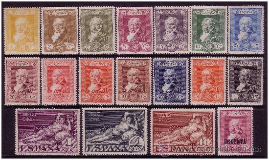 1930 GOYA, TERRESTRES, EDIFIL Nº 499 A 516 * (Sellos - España - Alfonso XIII de 1.886 a 1.931 - Nuevos)