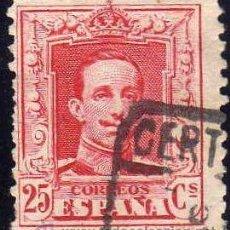 Sellos: ESPAÑA 1922-30 EDIFIL 317 SELLO º ALFONSO XIII 25C TIPO VAQUER Nº CONTROL AL DORSO SPAIN STAMPS TIMB. Lote 23525314