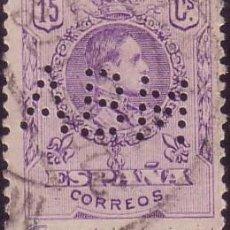 Sellos: ESPAÑA. 15 CTS. PERFORACIÓN COMERCIAL * ABM * (CAT. 5). A. DE BURGOS MAESSO. MÁLAGA. MUY RARO.. Lote 26685604