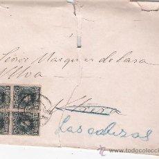 Sellos: CARTA DE SEVILLA A LAS CABEZAS.DE 1 DE JUNIO 1903. FRANQUEADO CON BLOQUE DE CUATRO DEL 244.. Lote 26751322