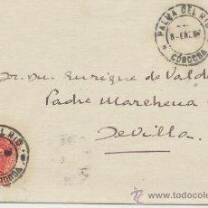Sellos: CARTA DE PALMA DEL RÍO A SEVILLA. DE 8 DE ENERO DE 1927. FRANQUEADO CON SELLO 317. BONITO.. Lote 26769466