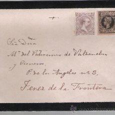 Sellos: CARTA DE (SEVILLA) A JEREZ DE LA FRONTERA.SIN MATASELLAR. CON FRANQUEO 219 Y 240.. Lote 26847723